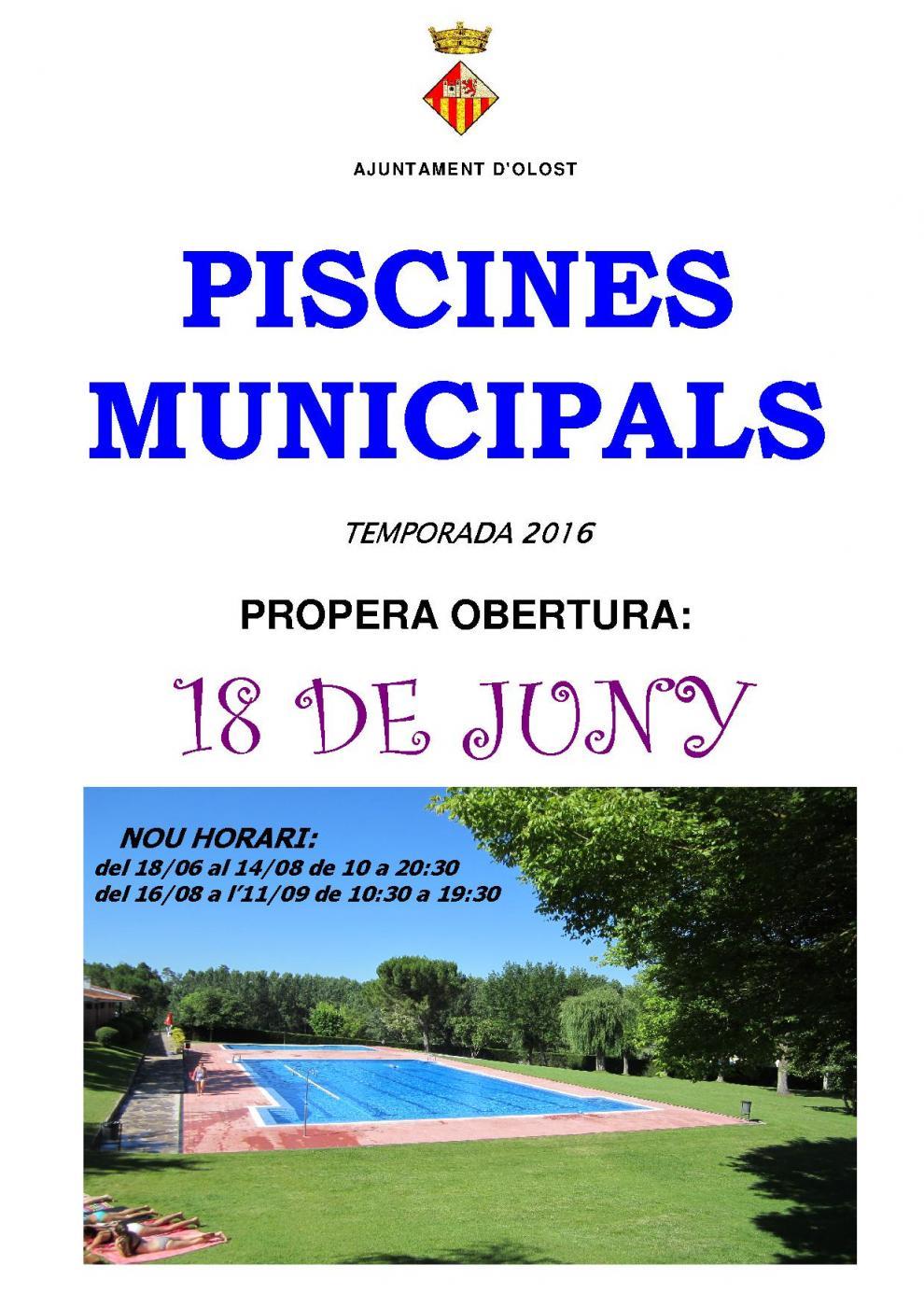 Ajuntament d 39 olost i santa creu de jutglar for Piscines municipals girona